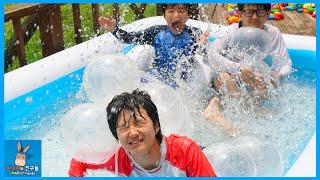 풍선으로 물 위에 침대 가능? 말이야 워터파크 꿀잼 물침대 만들기 실험 ♡ 무모하단 말이야 물놀이 DIY Balloon Bed Toys | 말이야와친구들 MariAndFriends