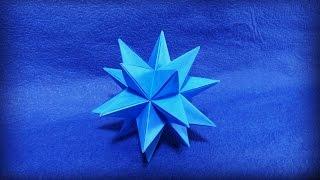【折り紙】 大星型十二面体を折ってみた 【ユニット折り紙】