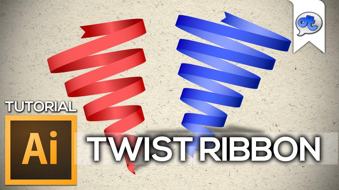 Adobe Illustrator | TUTORIAL #7 : TWIST RIBBON(Bahasa ...