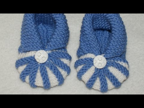 How To Knit Simple And Cute Baby Booties - DIY Crafts Tutorial - Guidecentral