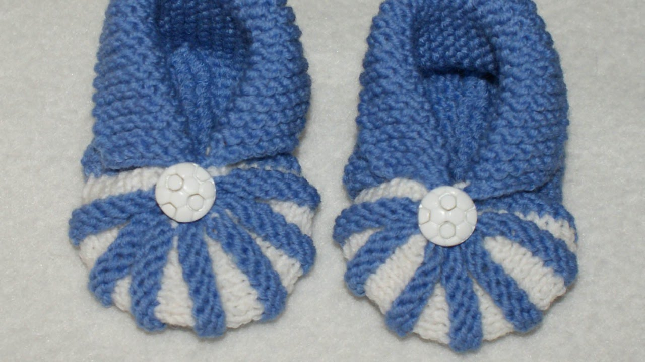 How To Knit Simple and Cute Baby Booties - DIY Crafts Tutorial ...