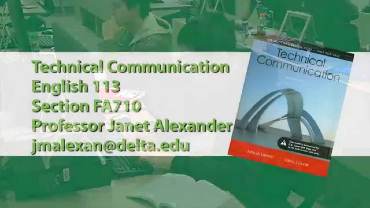 Technical Communication Requirements: B.S. (or Minor)
