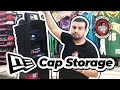Hat Closet Storage System. Organize Your Fitted  Hats With Snapback or Dad hat. Flat brim storage