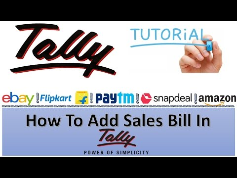 How To Add Sales Entry in Tally For Ecommerce Online Business