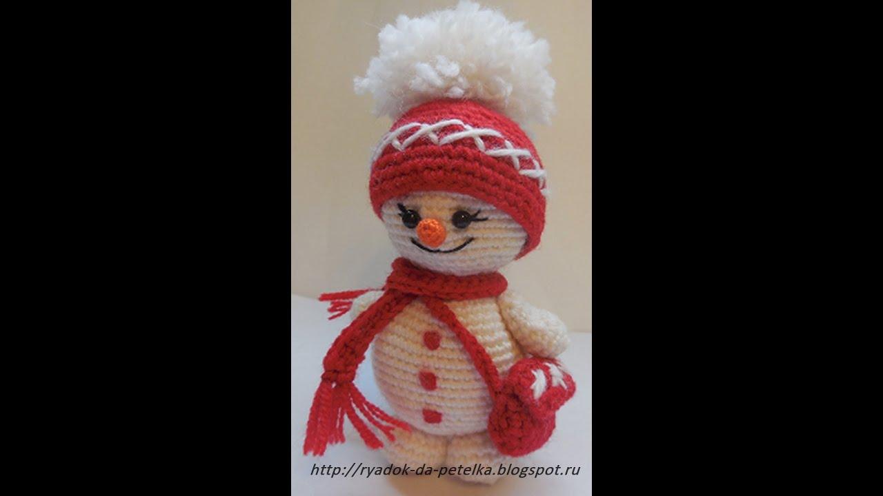 схема вязанного спицами снеговик своими руками