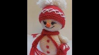 Мастер-класс Вяжем снеговика крючком