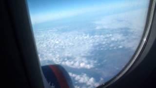 Аэрофлотом Бишкек - Москва - 3200 км Облака на всю дорогу 19 04 2015