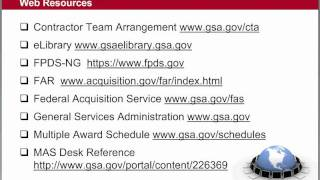 GSA Training: Contractor Team Arrangements (CTAs) - 5 of 9
