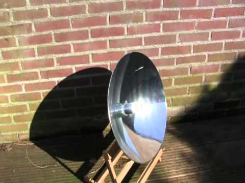 Solar B Stirling running on solar power.