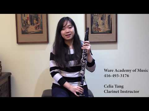Ware Academy of Music Clarinet Teacher, Talking About the Clarinet
