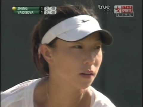 Wimbledon 2008 Zheng Jie VS. Vadisova 2/2