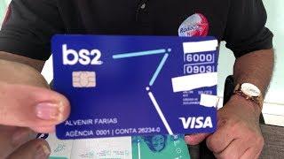 Cartão Visa internacional do Banco BS2, vem até com Mimos
