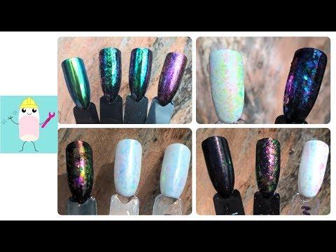 Glitterarty Nailcotics - Chameleon Chrome & Flake Nails @thenailengineer