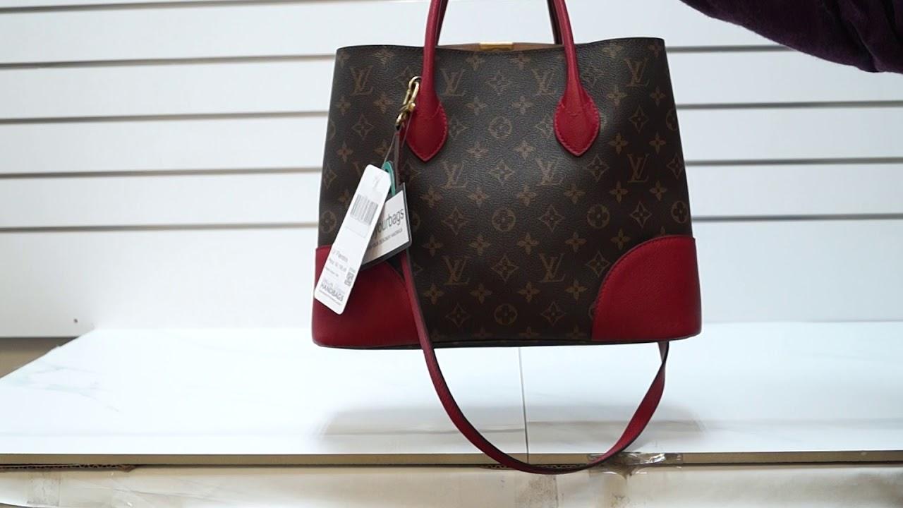 44363e79c18 LOUIS VUITTON Flandrin Monogram Canvas Tote Shoulder Bag Cherry E5065
