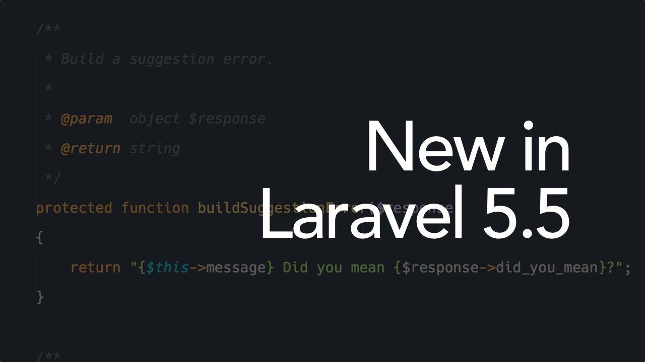 New in Laravel 5 5: Better looking default error pages (13/16)