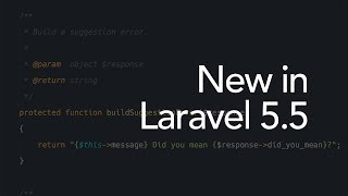 New in Laravel 5.5: Better looking default error pages (13/16)