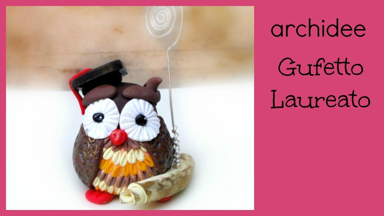 Top Gufetto Laureato   Tutorial   Polymer Clay   DIY Owl Graduation  DY39