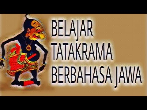 Video 9# Belajar Bahasa Jawa || Tata Krama Bahasa Jawa Yang Benar
