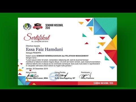 Cara membuat desain sertifikat dengan coreldraw - YouTube