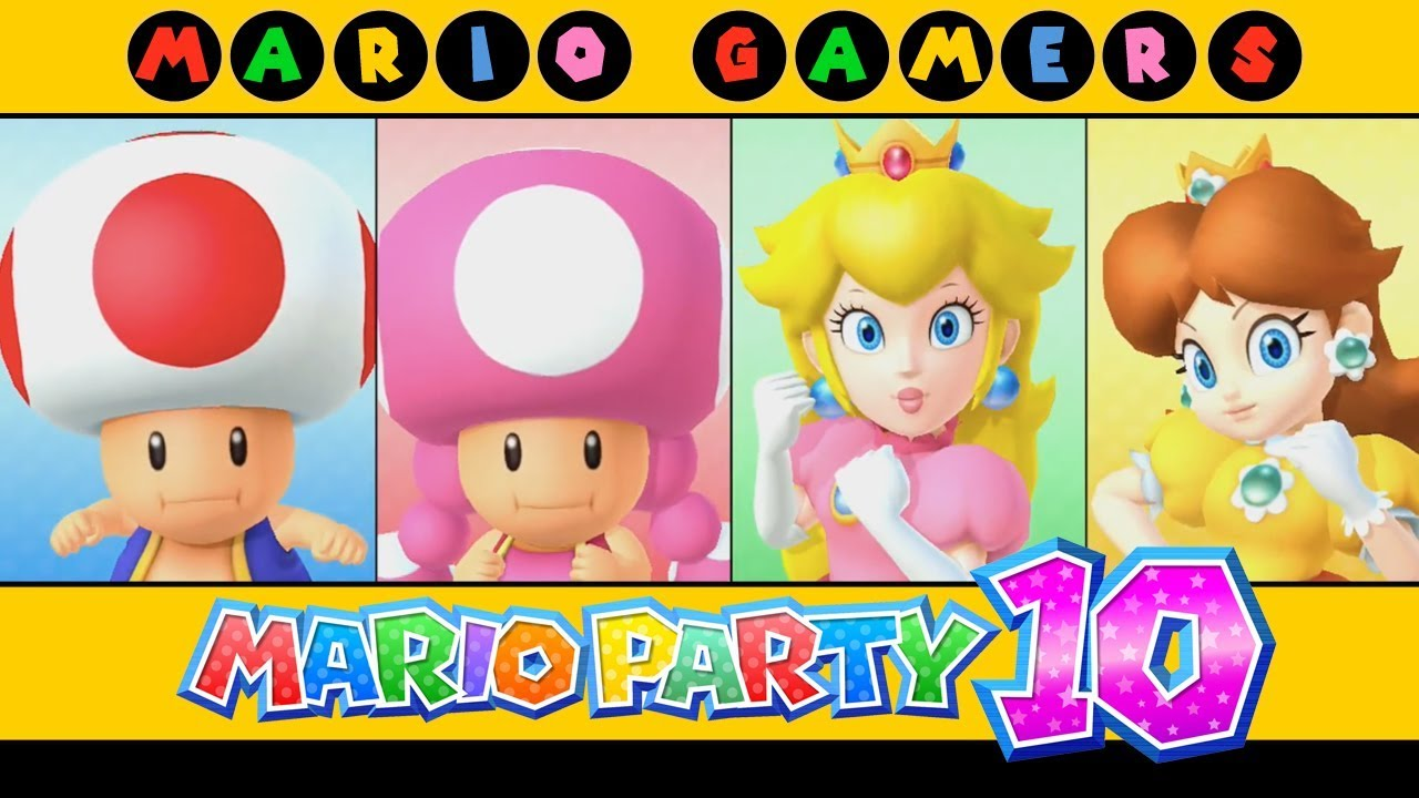 Mario Party 10 - Airship Central (Toad, Toadette, Peach ...