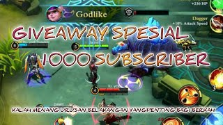 GIVEAWAY DIAMOND MOBILE LEGENDS ●SPESIAL 1000 SUBSCRIBER