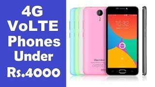 cheapest smartphones under 4000   4g volte support