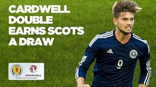 Cardwell scores twice as Scots draw | Scotland U19 2-2 Czech Republic U19