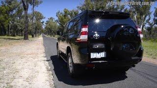 2016 Toyota LandCruiser Prado 2.8 (manual) 0-100km/h & engine sound