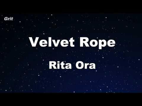 Velvet Rope - Rita Ora Karaoke 【No Guide Melody】 Instrumental