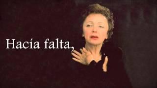 Édith Piaf - Fallait-Il ? - Subtitulado al Español