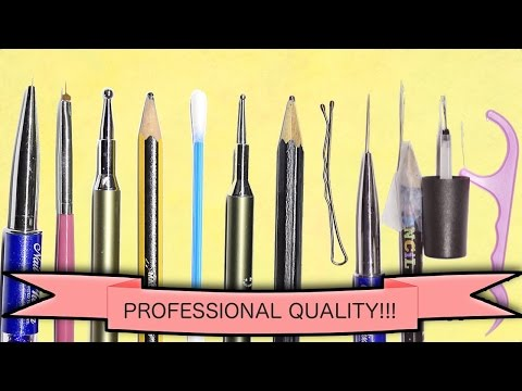 DIY MAKE YOUR OWN NAIL ART TOOLS - PROFESSIONAL QUALITY FULL SET