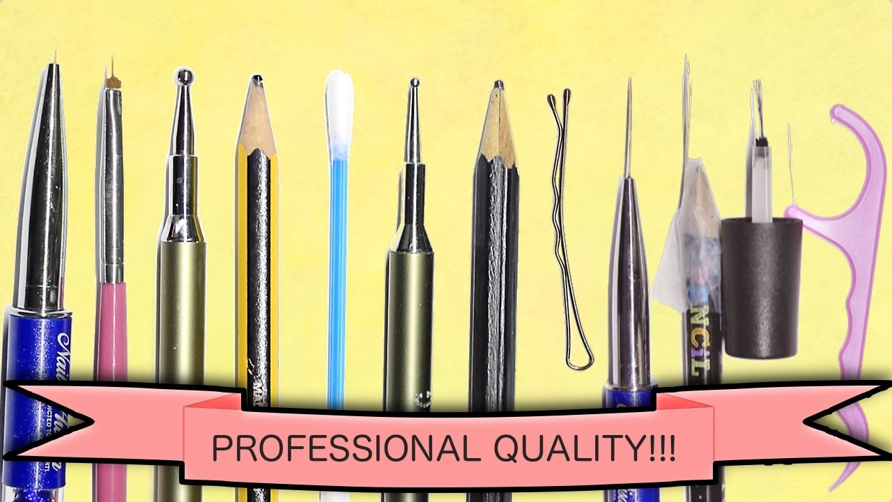 Diy Make Your Own Nail Art Tools Professional Quality Full Set Youtube