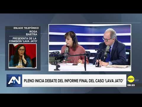 """Rosa Bartra sobre el informe final de la Comisión Lava Jato: """"Ni se ha blindado ni se ha perseguido"""""""