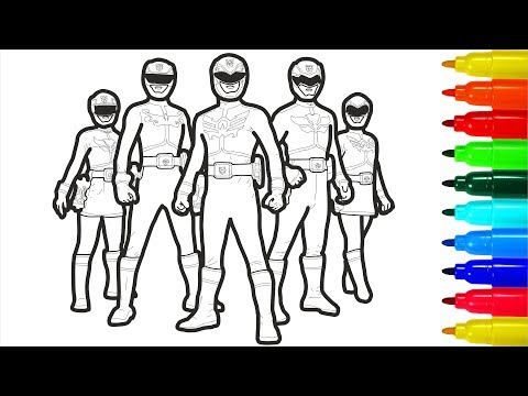 - Power Rangers Dino Charge Coloring Pages - YouTube
