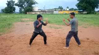 Kung fu fight practice for demo