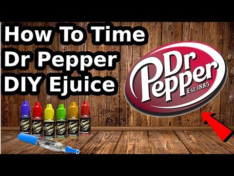 How To | Dr. Pepper | With 6mg Nic By Volume DIY Ejuice! Easy!