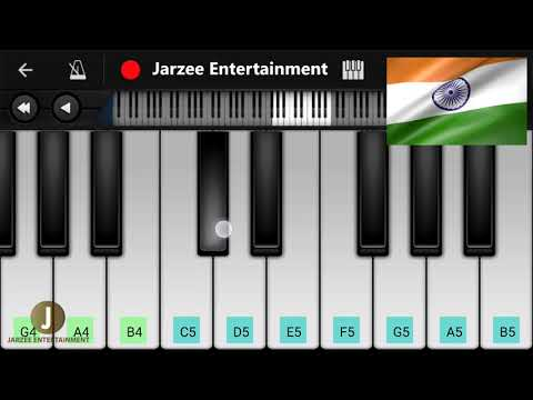 Saare Jahan Se Accha Piano Cover | Happy Independence day of India | Jarzee Entertainment