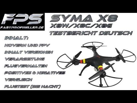 Review Testbericht SYMA X8W X8C X8G RC Drohne Venture FPS Test Deutsch FPV Kamera Flugverhalten