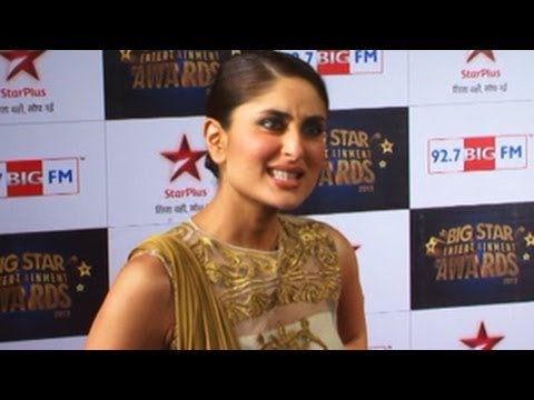 Kareena Kapoor EXPOSES Ranbir & Katrina @ Big Star Entertainment Awards 2013