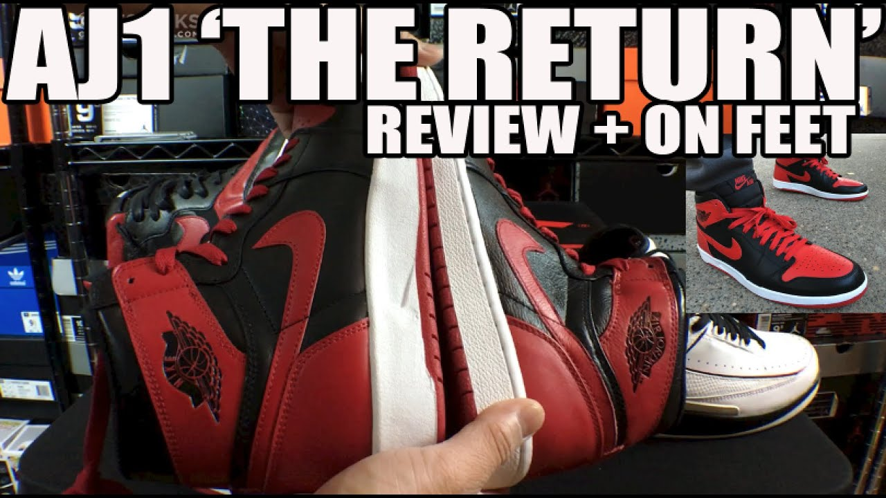 Nike Air Jordan 1  The Return  BRED Review   On Feet (Air Jordan 1 + 2  Prototype!) b6cae8f74