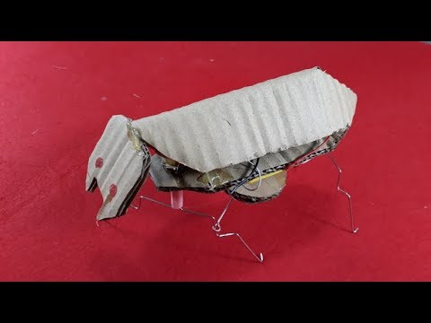 How to make a Ant Robot - Yellow Motor DC/Creative fun -[Piece of Paper]