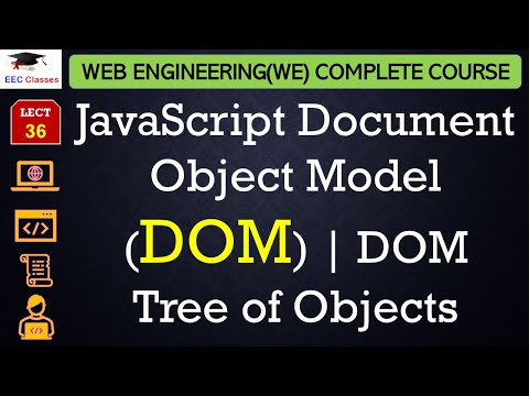 JavaScript Lecture 10 - Document Object Model (DOM), DOM Tree of Objects with Example