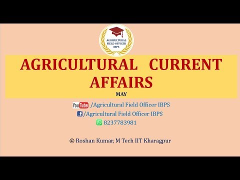 Agricultural Current Affairs May 2017