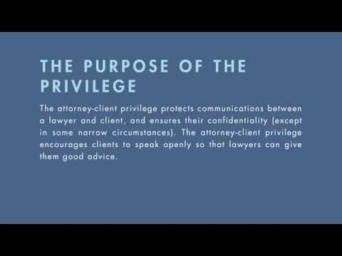 Legal Ethics Tutorial: Attorney-Client Privilege | Quimbee.com