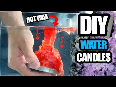 DIY Gothic Water Candles!