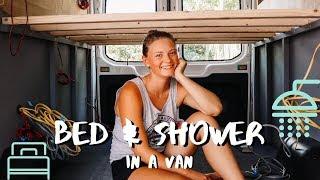 Building a Fixed Bed & Shower in a Van   VAN BUILD SERIES (week 2)