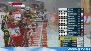 1-й этап КМ по биатлону сезона 2013-2014 гг. в новостях первого канала