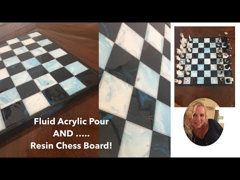 (34) How To Make A Resin Chess Board.  Fluid Acrylics and Resin Tutorial