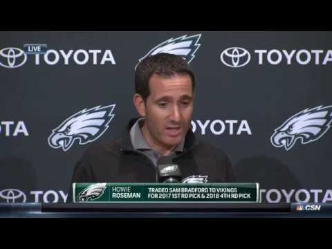 Howie Roseman on Sam Bradford trade, final cuts - September 3, 2016
