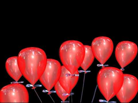 Red Balloons Flying Heart Animation YouTube
